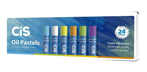 Giz Pastel Oleoso Cis 24 Cores