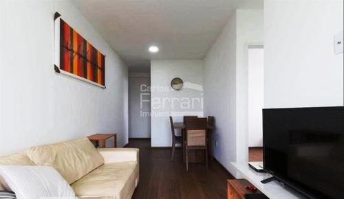 Imagem 1 de 15 de Apartamento Com 02 Dormitórios, Sendo 01 Suíte E 02 Vagas De Garagem, Sacada - Cf33033