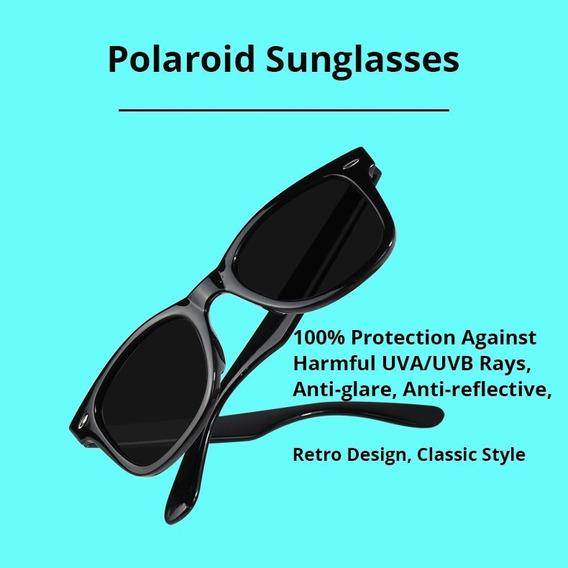 Óculos De Sol Polarizado Modelo Quadrado Homem / Mulher