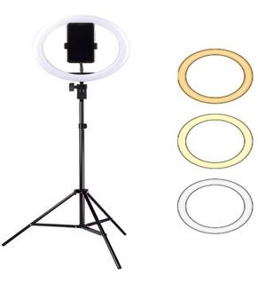 Ring Light Iluminador 26cm / 10 Polegadas + Tripé 2 Metros