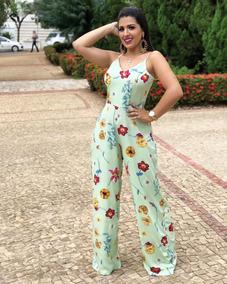 Macacão Feminino Longo Verde Festa Especial Blogueira R:617