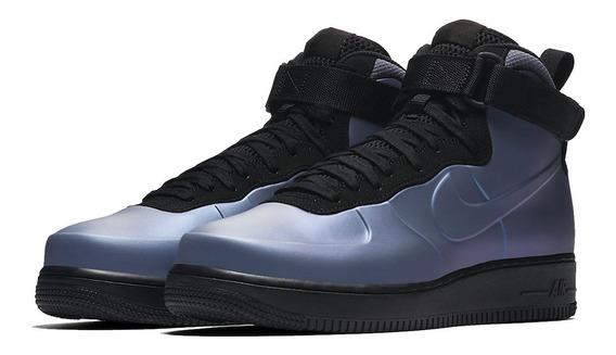 Tênis Nike Air Force 1 Mid Foamposite Light Carbon