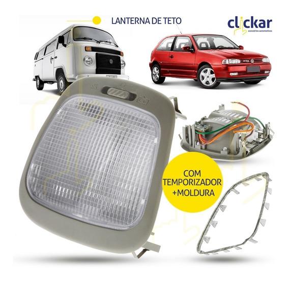 Lanterna Luz Teto+moldura Gol Parati G2 G3 G4 Temporizador