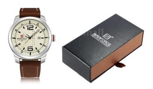 Relógio De Pulso Naviforce Nf 9063 Pulseira De Couro
