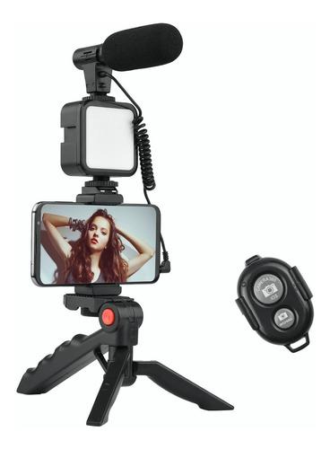 Imagen 1 de 9 de Andoer Teléfono Vlog - Kit De Vídeo Con Soporte Para Trípode