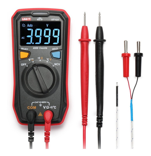Multimetro Digital Uni-t Ut123, Temperatura, Ncv, Lcd Ebtn
