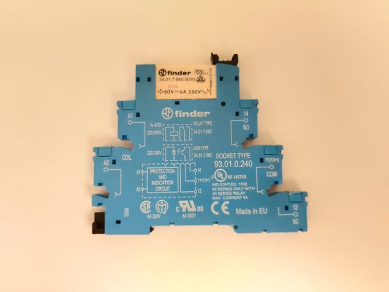 Relé Modular De Interface Finder 38.51.0.240.0060 240 Vac/dc