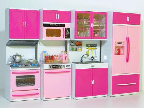 Kit Cozinha Infantil 4 Em 1 Com Som E Luz- Modern Modelo Nov