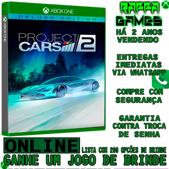 Project Cars 2 - Deluxe Edition - Xbox One Online + Brinde