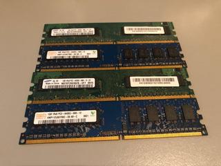 Memoria Ram 1gb 1rx8 Pc2-6400u Usadas
