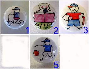 Lote 4 Puxador Porcelana Para Gaveta Porta Móveis Sortidos