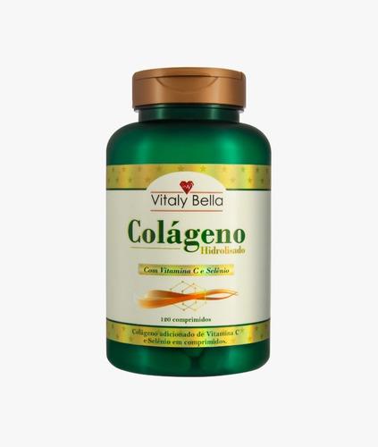 Colágeno Hidrolizado Puro 120 Cápsulas Vitaly Bella