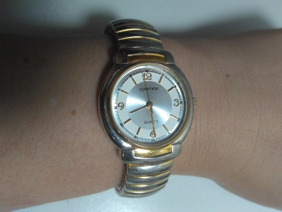 Relógio Cosmos Feminino Original Pulseira Elástica