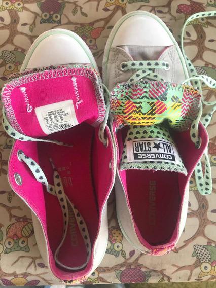 Zapatillas Converse All Star Usadas Talle 36 22cm.