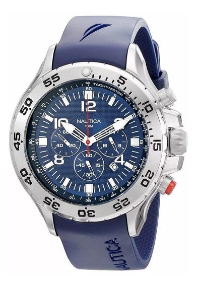Relógio Náutica Nst N14555g Semi Novo, Ótimo Estado