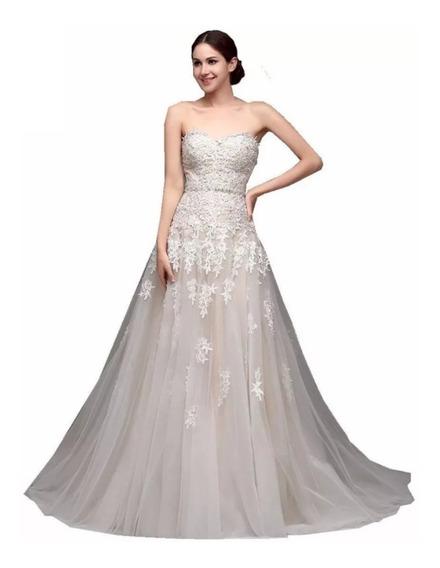 Vestido De Novia W-32238 En Blanco O Ivory Envio Gratis !