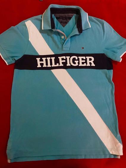 Playera Tommy Hilfiger Original Talla S Azul Cielo