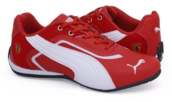 Tênis Masculino Ferrari Corrida Caminhada Mega Promoção