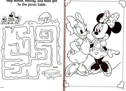Minnie  - Libro Jumbo Para Colorear Y Actividades