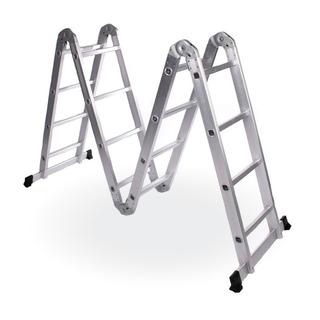 Escalera De Aluminio Articulada 4x4 Reforzada + Regalo