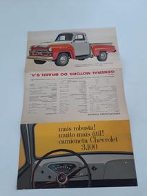 Folder Folhete Brochura Caminhonete Chevrolet 3.100 Coleção