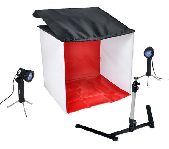 Kit Mini Estudio Fotografico Portatil 40x40 40cm