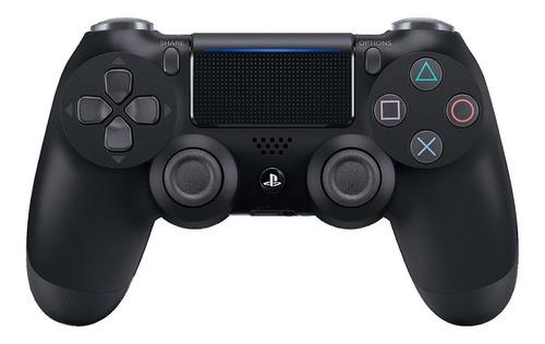 Imagem 1 de 3 de Controle Joystick Sem Fio Sony Playstation Dualshock 4 Jet Black