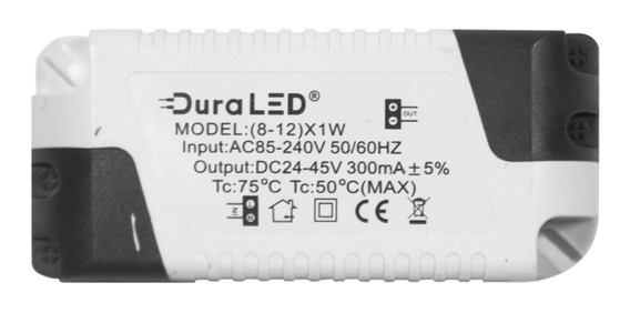 Controlador Regulado Balastro Lampara Led 12w Con004 Duraled