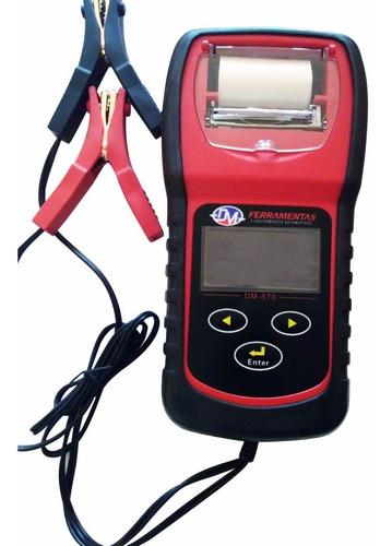 Analisador De Baterias 6 A 12v Com Display Lcd E Impressora