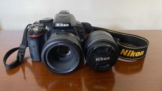 Câmera Nikon D5300 + Lentes 50mm E 18-55mm