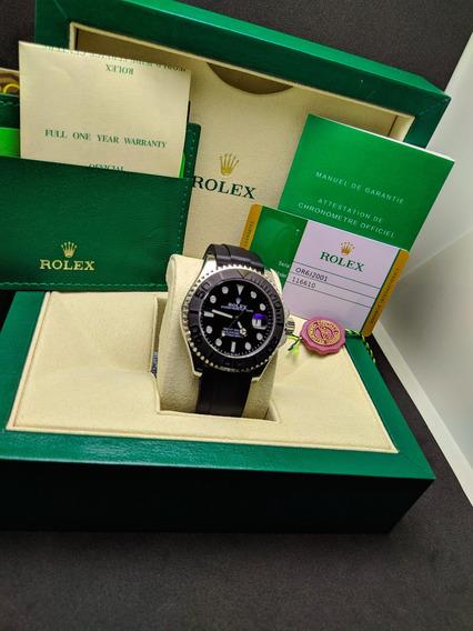 Relogio Rolex Yacht Master 2 Prata Com Caixa - Promoção