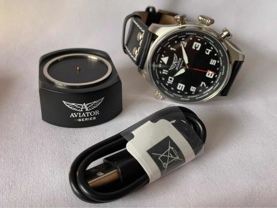 Relógio Masculino Aviator F-séries Original Novo Presente