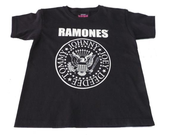 Ramones Playerita Mod. Logo Marca Bravado Unisex Para Niños De 10 A 16 Años Con Envio Gratis Heavy Ace70