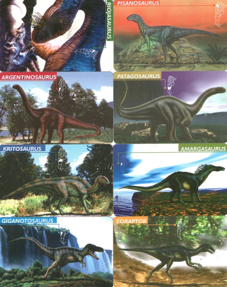 15 Tarjetas Telefonicas - Dinosaurios De Argentina