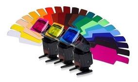 Gelatina Colorida P/ Flash Difusor 20 Cores Universal