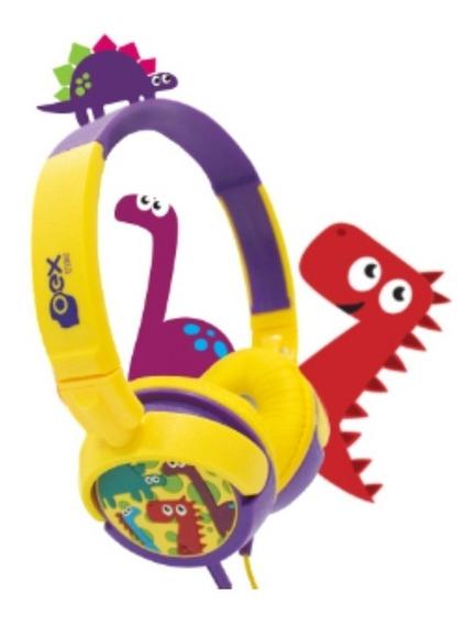 Fone De Ouvido Dino Para Criança Headphone Infantil Hp300