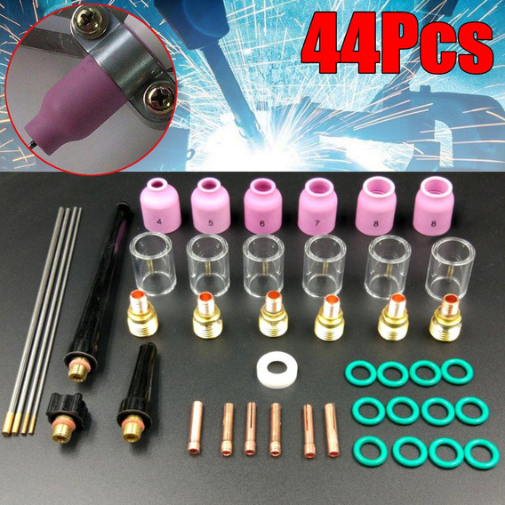 44 Pcs Tig Acessórios Pistola De Soldagem Para Tig Wp-9/20/2
