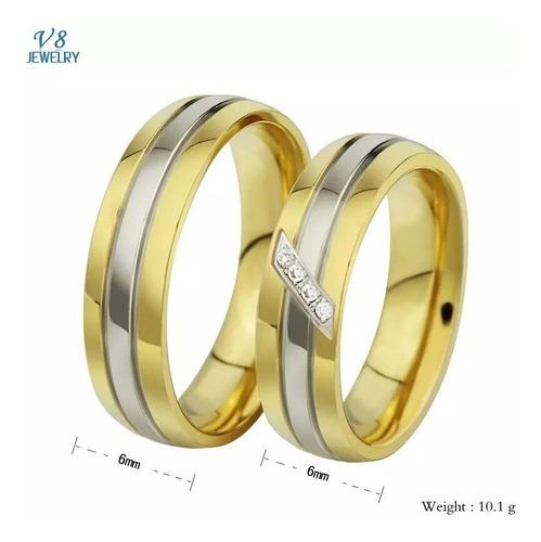 Imagen 1 de 1 de Anillos De Boda Oro 18k Matrimonio Plata Joyas J7 S7 LG