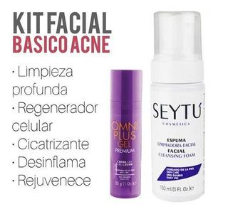 Omniplus Gel Premium Y Espuma Seytú.acne,cicatrices,soriasis