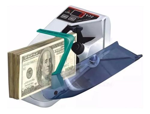 Imagen 1 de 4 de Contadora De Billetes Portátil Máquina Contar Dinero + Funda