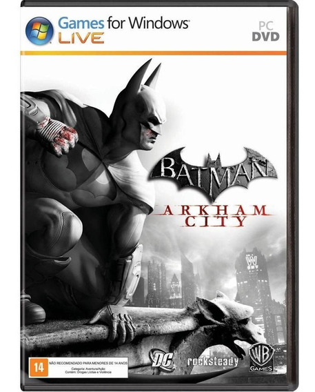 Game Pc Batman Arkham City - Original - Novo - Lacrado