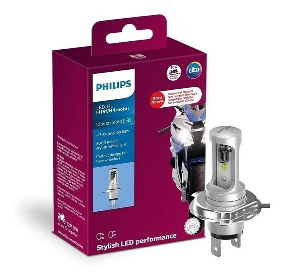 Lampada Farol Led Ultinon H4 Moto Branca Original Philips