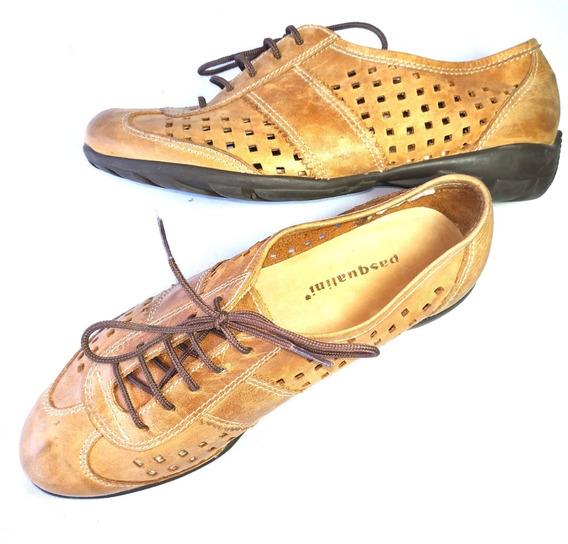 Pasqualini Zapatos Estilo Oxford 100% Cuero Excelente Estado