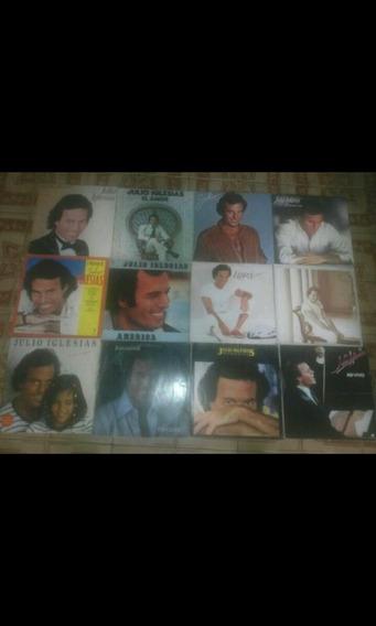 12 Discos De Vinil Do Cantor Julio Iglesias