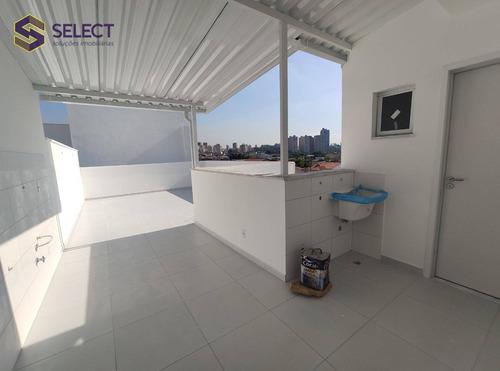 Imagem 1 de 26 de Cobertura À Venda, 92 M² Por R$ 450.000,00 - Vila Scarpelli - Santo André/sp - Co0031