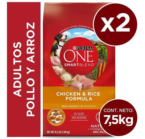 Pack Purina One® Adultos Pollo Y Arroz 7,5 Kg