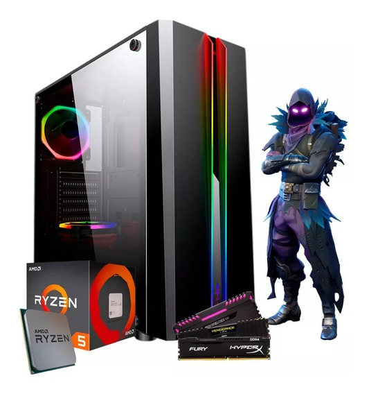 Pc Cpu Gamer Amd Ryzen 5 2400g + 8gb Ddr4 + A320m + Hd 1tb