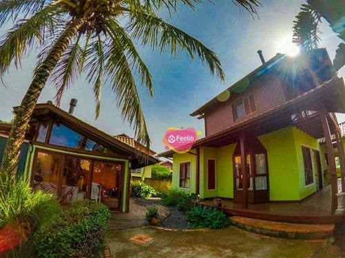 Imagem 1 de 30 de Casa Com 3 Dormitórios À Venda, 340 M² Por R$ 1.200.000,00 - Novo Campeche - Florianópolis/sc - Sc - Ca0019_feelin