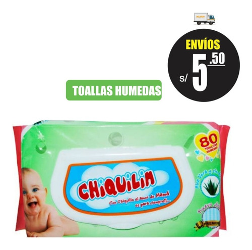 Toallitas Humedas Chiquilin 80 Unidades Huggies Babysec Pamp