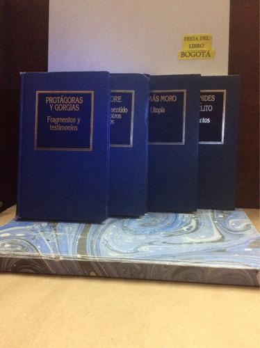 4 Libros -  Filosofia- Por $50000 - Protagoras - Montaigne
